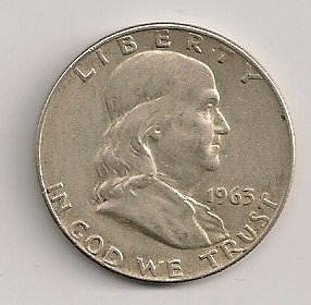 1963-D Circulated Franklin Half Dollar