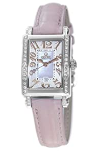 Gevril Women's 8248RE Super Mini Quartz Pink Mother of Pearl Diamond Watch by Gevril