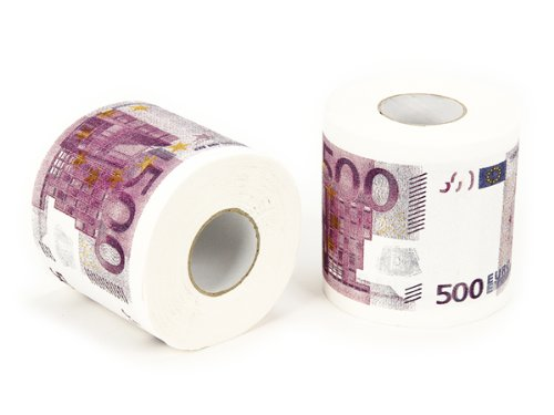 rouleau de papier toilette fantaisie billet 500 euros papier wc. Black Bedroom Furniture Sets. Home Design Ideas