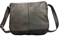 David King & Co. Laptop Messenger Bag Plus, Black, One Size