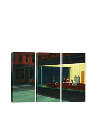 Edward Hopper Nighthawks, 1942 3-Piece Canvas Print