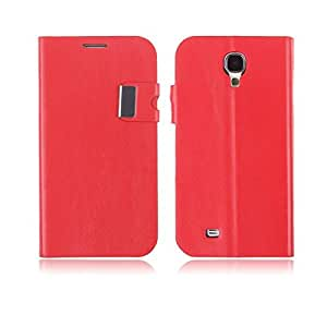 Red Flip Leather Wallet With Stand Card Case Cover For Samsung Galaxy S4 S IV i9500
