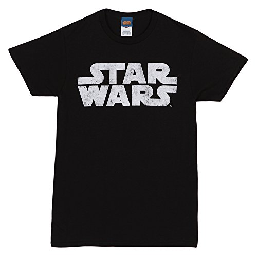 Star Wars Simplest Logo Adult T-Shirt - White on Black (XX-Large)
