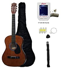 Crescent MG38-CF 38 Acoustic Guitar Starter Package COFFEE (Includes CrescentTM Digital E-Tuner)