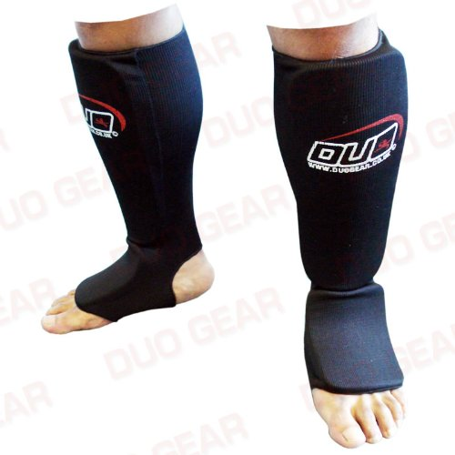 MEDIUM BLACK Muay Thai Kickboxing Karate Shin & Instep