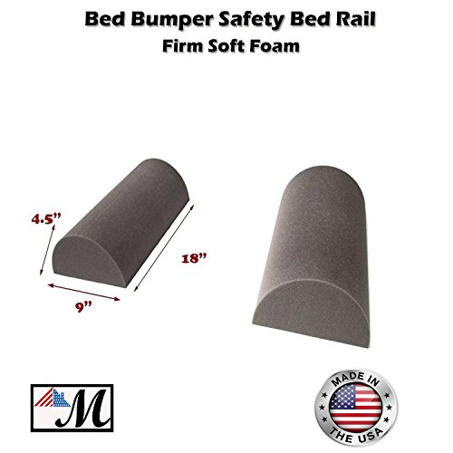 "2 Pack Bed Bumper - Child's Toddler's Safety Guard Rail 18 Inch (9""x 4.5) 1 set - 1"