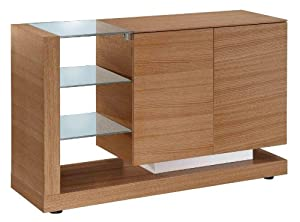 jual cube jf613 oak sideboard with clear glass. Black Bedroom Furniture Sets. Home Design Ideas