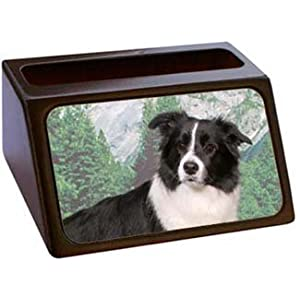 Border Collie Business Card Holder
