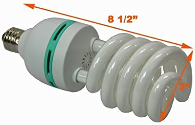 Hydroponic Full Spectrum CFL Grow Light Bulb 60 Watt Bulb 5500K H60