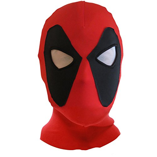 New Halloween mask Cosplay Costume Lycra Spandex Mask Red/Black