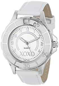 Xoxo women 39 s xo3187 silver dial white strap watch watches for Watches xoxo