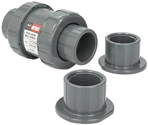 Hayward Tc10150ste 1 1 2 Inch Pvc Tc Series True Union Check Valve With Epdm Seals