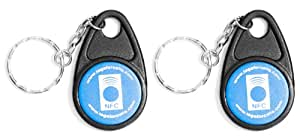 NFC Tag Keychains - 2 NFC Keychains (Mifare 1K NDEF Formatted) - Compatible with: Android, Windows 8 Phone, WP8, AT&T Sprint Verizon Wireless - Nokia, Samsung Galaxy S3, S2, Note, LG Optimus G, HTC One Replaces Version 1 Tectiles - Lifetime Guarantee