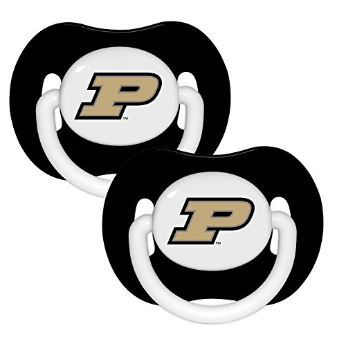 Purdue Boilermakers Black Infant Pacifier Set (2) - 2015 NCAA Baby Pacifiers