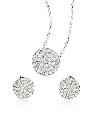 Ingenious Jewellery Conjunto de collar y pendientes plata de ley 925 milésimas