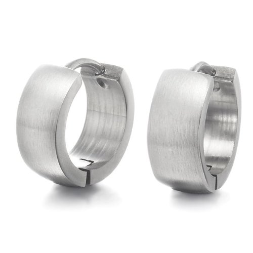 316L Stainless Steel Men's Hoop Earrings