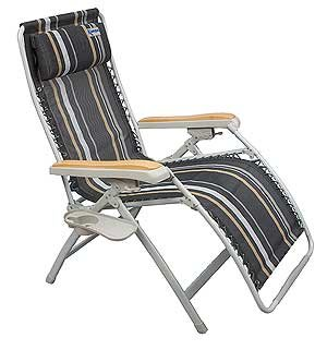 Kampa Extravagance Deluxe Relaxer XL Reclining Chair, camping, caravanning.