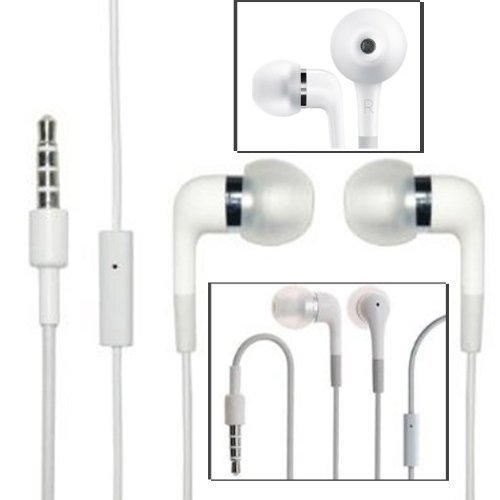 HIGH QUALITY WHITE WEISS IN-EAR EARPHONE HEADPHONE HANDSFREE HANDS-FREE OHRHORER KOPFHORER FREISPRECHEINRICHTUNG WITH MIT MIC FOR LG OPTIMUS BLACK P970 VU T CHIC E720 SLIDER ELITE LS696 NET