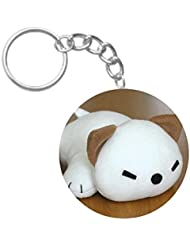 Cute Toy Puppy | ShopTwiz Circle Printed Key Rings