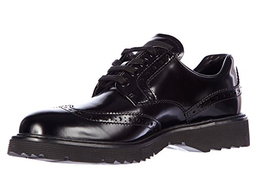 pictures of Prada women's classic leather lace up laced formal shoes derby spazzolato black US size 7 3E5484 OP7 F0002