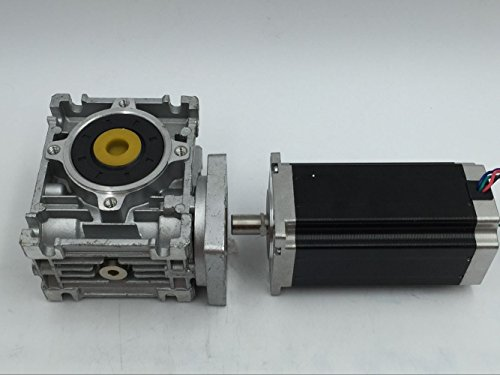 ToAuTo Worm Gear Stepper Motor Nema 23 Ratio 15:1 RV30 Worm Gearbox Output Shaft 14mm 4.2A 4 leads 1.8 Deg. Step Angle for DIY CNC Router (Worm Gear Reducer compare prices)