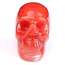 TGS Gems® Natural 1.8-2.1\'\'Cherry Quartz Carved Skull Crystal Reiki Healing Statue By Random
