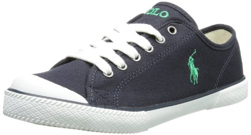 Polo Ralph Lauren Unisex - Child Chaz Trainers Blue Blau (Navy) Size: 37