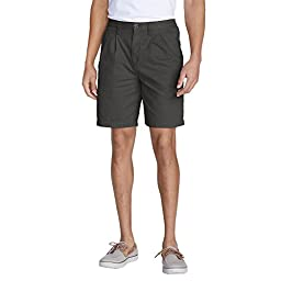Eddie Bauer Men\'s Legend Wash Side-Elastic Chino Shorts, Dk Slate 38 Regular