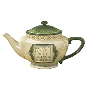 """Grasslands Road Celtic 48-Ounce """"Here's To.."""" Teapot"""