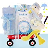 Look What The Stork Delivered- Boys Personalized Wagon Baby Gift Basket Kids, Infant, Child, Baby Products