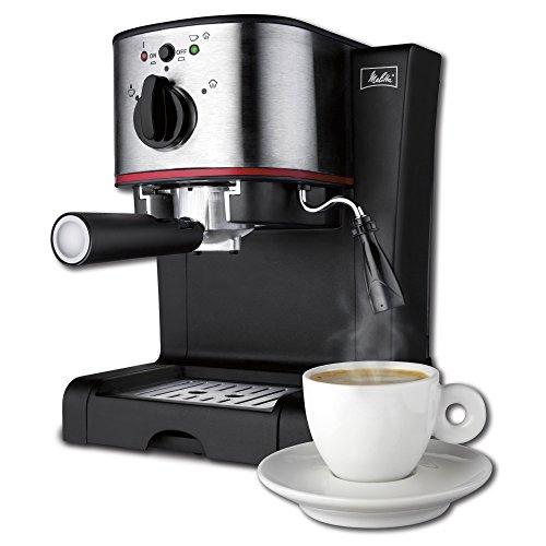 Hamilton Beach Melitta 15-Bar Pump Espresso Maker with Frother, Silver | 40791