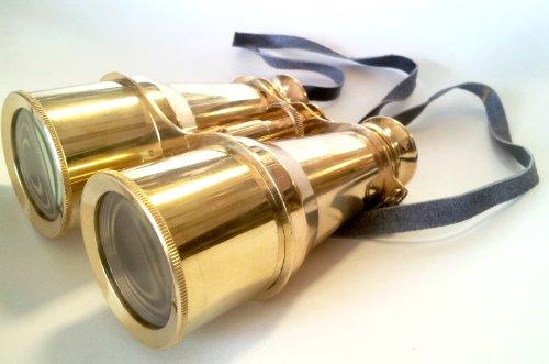 "Brass Binoculars 6"" - Binoculars - Nautical Decor Home Decoration - Executive Promotional Gift"