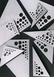 Triangle, Aluminum , 14 Inch 30°/60°/90°