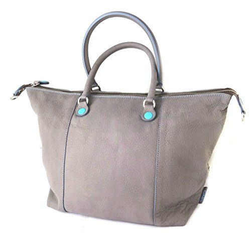 Borsa in pelle 3 in 1 'Gabs'grigio (l)- 43x36x2 cm.