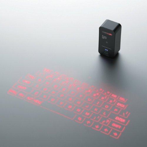 ELECOM 投映型Bluetoothプロジェクションキーボード iPhone/iPad/iPod touch対応 対応 ブラック TK-PBL042BK