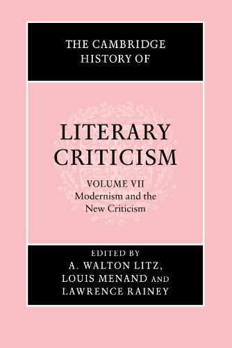 Mon premier blog the cambridge history of literary criticism vol 7 modernism and the new criticism fandeluxe Gallery