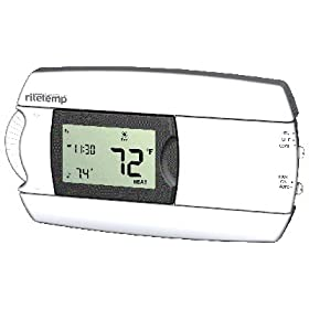 Ritetemp 7 day programmable universal thermostat home for Heat setting for home