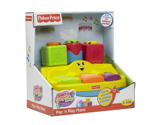 Fisher-Price Stack 'n Surprise Blocks Peek-A-Boo Piano - 1