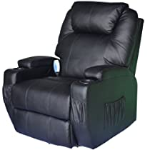 2014 Sale Homcom Deluxe Heated Vibrating Pu Leather Massage Recliner Recliner Chair Sale