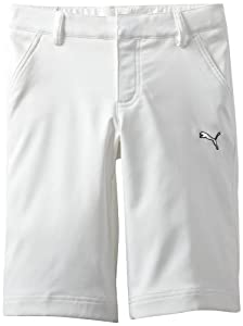 Puma Golf NA Boy's Tech Shorts, White, Small