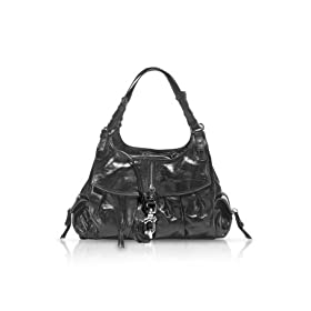 Francesco Biasia Secret Love J - Large Calfskin Shoulder Bag Black