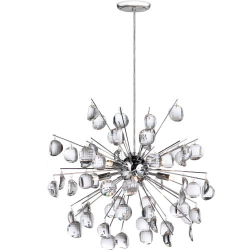 Dainolite 189-19 Spherical Pendant, Polished Chrome/Crystal