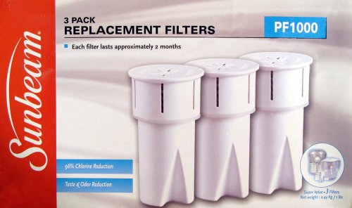 Sunbeam P1000 Replacement Water Filters (3 Pack) (Sunbeam Pitcher compare prices)