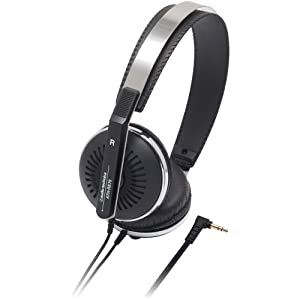 Audio Technica ATH-RE70BK Classic Retro Style On-Ear Headphones, Black