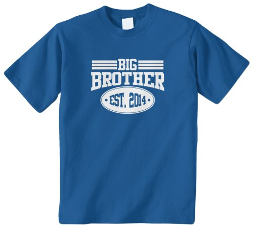 Threadrock Big Boys' Big Brother 2014 Youth T-Shirt M Royal Blue front-955950