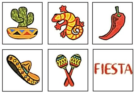 Mexican Fiesta Temporary Tattoos - 72 ct - 1