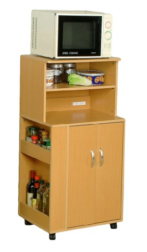 Cheap ABC Kitchen Microwave Cart with Spice Rack and Electrical Socket (ABC-1707N)