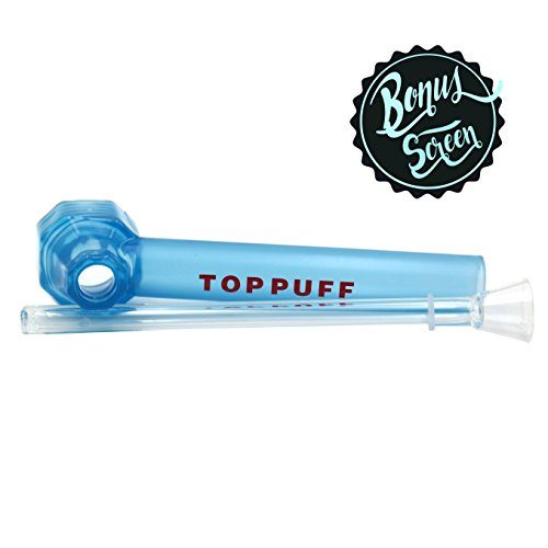 Top-Puff-Water-Hookah-Smoking-Accessory-with-BONUS-Glass-Screen-Acrylic-Pipe-with-Glass-Bowl-Discreet-Washable-Spill-Proof-Small-and-Concealable-Turn-any-Beverage-Bottle-into-the-Perfect-Hitter