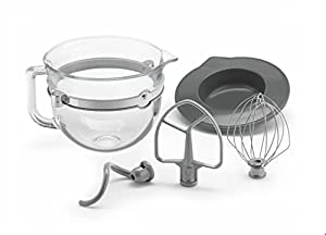 KitchenAid Glass 6 Quart Mixing Bowl with Accessories
