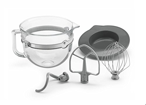 KitchenAid Glass 6 Quart Mixing Bowl with Accessories for Bowl-lift Stand Mixers (Kitchenaid Lift Stand compare prices)